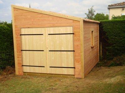 Livraison d 39 un garage en bois homekit - Cout d un garage en bois ...