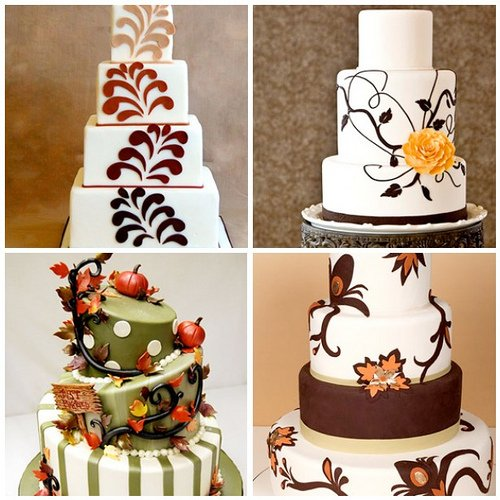 Trending now fall wedding cakes ideas top weddinggowns for Autumn cake decoration
